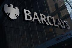 Barclays unterzeichnen lizenzfreie stockfotos