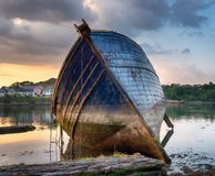 Barco abandonado Fotografía de archivo