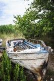 Barco abandonado Foto de Stock