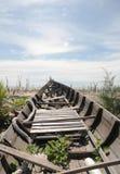 Barco abandonado foto de archivo libre de regalías