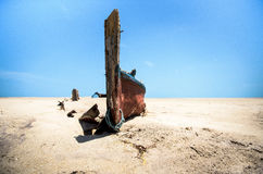 Barco abandonado Imagens de Stock Royalty Free