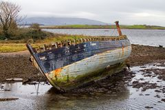 Barco abandonado, Co Sligo, Irlanda Fotografia de Stock Royalty Free