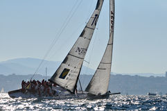 Barco acoplado na raça fotos de stock royalty free