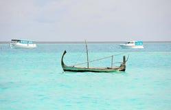 Barco agradable en Maldives Imagen de archivo