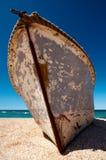 Barco aherrumbrado imagen de archivo