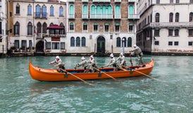 Barco alaranjado Imagem de Stock
