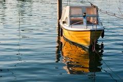 Barco amarelo Fotografia de Stock