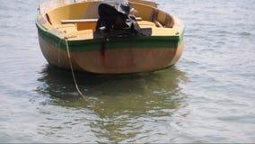 Barco amarillo almacen de video