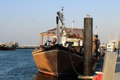 Barco amarrado fotos de archivo