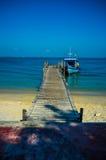 Barco amarrado en el embarcadero #2 Imagen de archivo