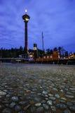 Barco amarrado en Tampere, Finlandia Fotos de archivo