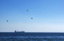 Barco anclado Fotos de archivo libres de regalías