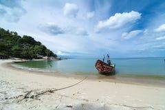 Barco anclado del viaje Imagen de archivo libre de regalías