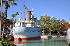 Barco antiguo en los estudios de Disney Hollywood Fotos de archivo libres de regalías
