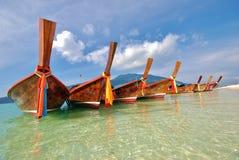 Barco asiático da albacora no paraíso Fotografia de Stock