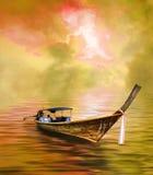 Barco atado longo Imagem de Stock