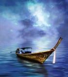 Barco atado longo Fotos de Stock