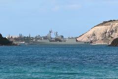 Barco australiano da marinha em Nova Caledônia imagens de stock royalty free