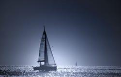 Barco azul Foto de archivo