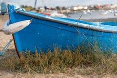 Barco azul Imagen de archivo libre de regalías