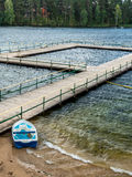 Barco azul Fotos de Stock