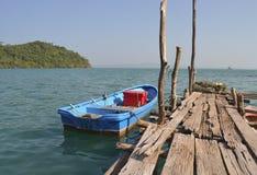 Barco azul Imagem de Stock Royalty Free
