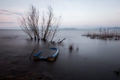 Barco azul Foto de Stock