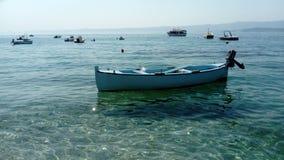 Barco azul de madera, Imagen de archivo