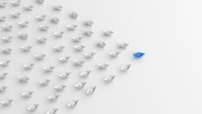 Barco azul do líder Imagem de Stock Royalty Free