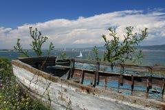 Barco búlgaro velho Foto de Stock