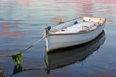 Barco blanco solo Imagen de archivo
