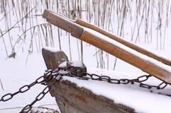 Barco bloqueado foto de archivo libre de regalías