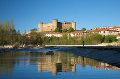 Barco castle from Tormes river Royalty Free Stock Images
