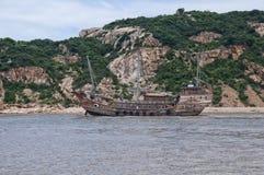 Barco chino de los desperdicios imagen de archivo libre de regalías
