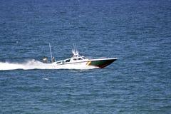 Barco civil del guardacostas de Guardia Imagen de archivo libre de regalías