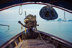 Barco con el motor Imágenes de archivo libres de regalías