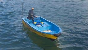 Barco con la opini?n agradable del mar imagen de archivo libre de regalías