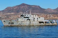 Barco da Armada mexicano Uribe 121 que afunda-se Imagem de Stock