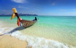Barco da cauda longa em Tailândia Foto de Stock