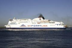 Barco da companhia nova Myferrylink Imagens de Stock Royalty Free