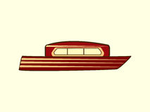 Barco da cor de água Fotos de Stock Royalty Free