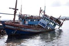 barco da destruição Imagens de Stock Royalty Free
