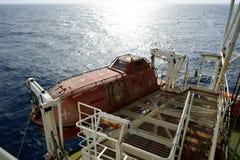 Barco da evacuação Fotos de Stock Royalty Free