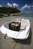 Barco da fruta, St Lucia Fotos de Stock Royalty Free