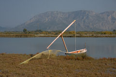 Barco da lagoa fotografia de stock