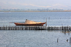 Barco da lagoa foto de stock