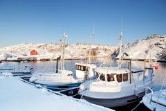 Barco da neve do inverno fotografia de stock