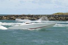 Barco da raça do cigarro - 1 Imagem de Stock Royalty Free