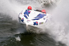 Barco da raça do waterski F1 Fotos de Stock Royalty Free