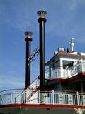 Barco da roda de pá em Savannah Georgia imagens de stock